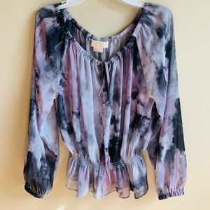 Michael kors sheer blouse p/m
